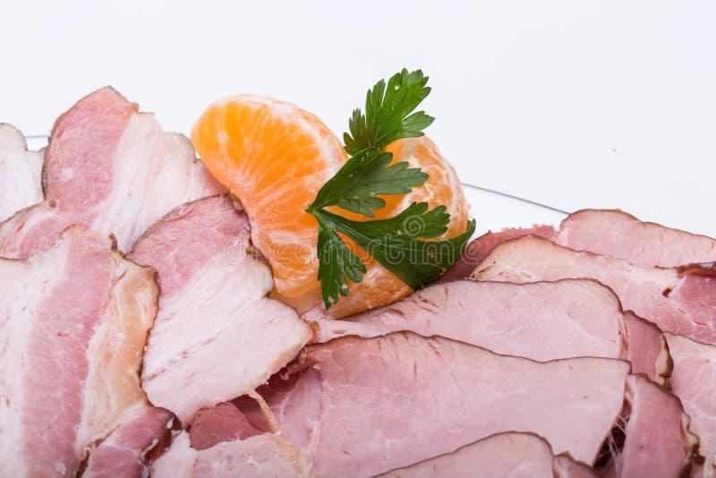 Plat de viande fumée photographie stock libre de droits