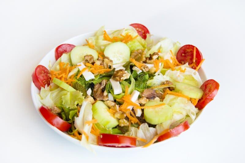 Plat des salades grecques photographie stock libre de droits
