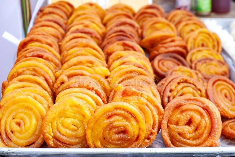 Plat doux indien Jalebi Bonbon indien délicieux photos libres de droits