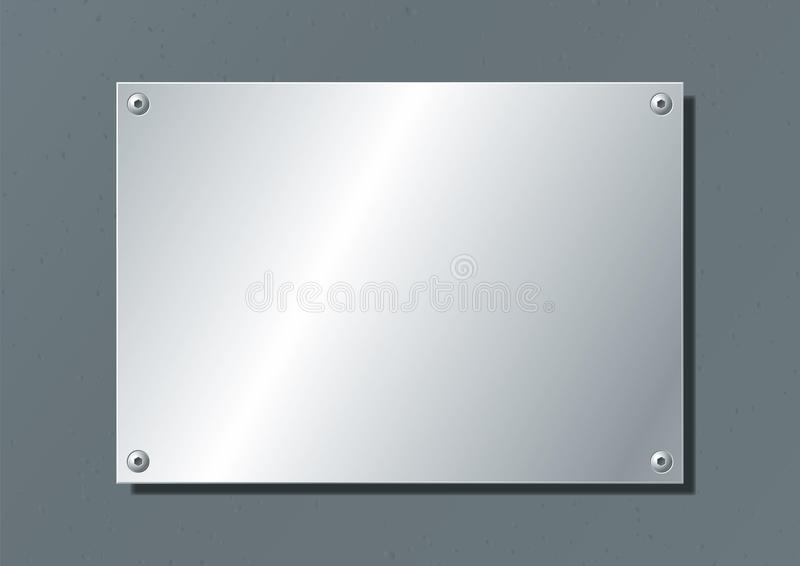 Plat en aluminium illustration libre de droits