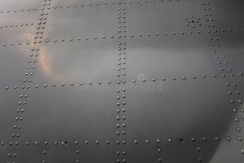 Plat en aluminium riveté photo stock