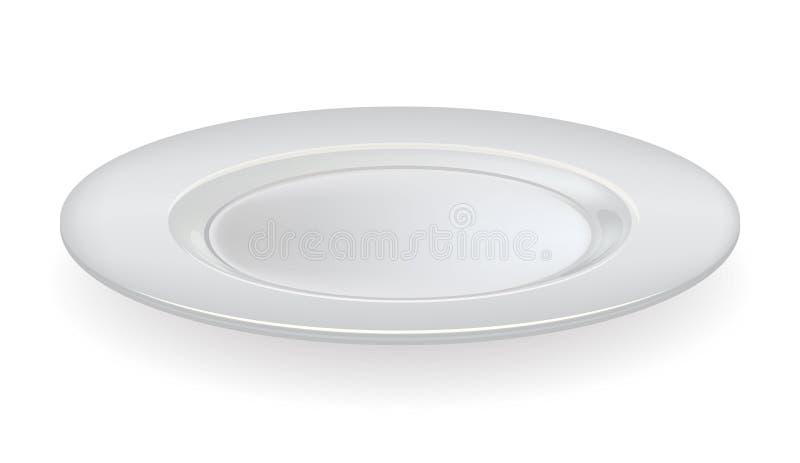 Plat en céramique de vecteur sur un fond blanc illustration stock