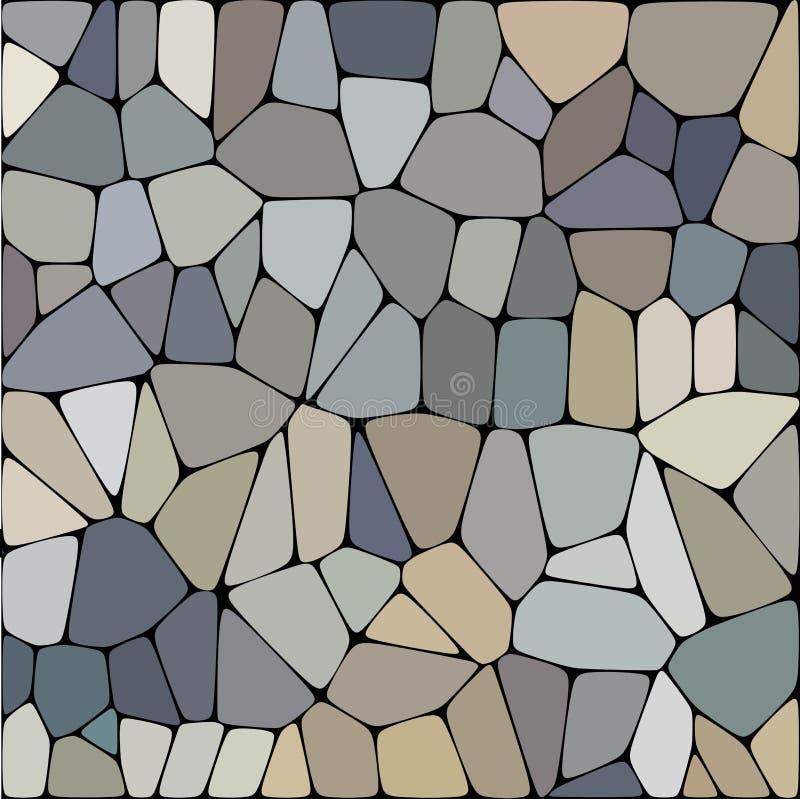 Plat en pierre pavant le mod?le sans couture Les formes tordues g?om?triques d'hexagone de r?sum? ornementent l'illustration de v illustration de vecteur