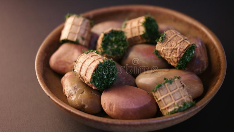 Plat gastronome photo stock