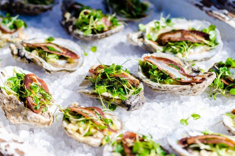 Plat gastronome d'huître photographie stock