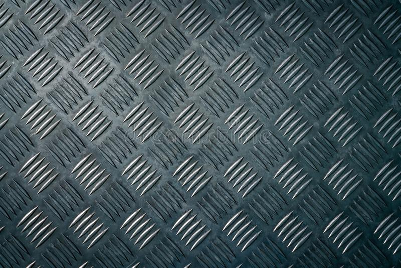 Plat industriel de contrôleur en métal Fond de texture de plat de contrôleur en métal Checkerplate en métal pour l'anti dérapage  photos stock