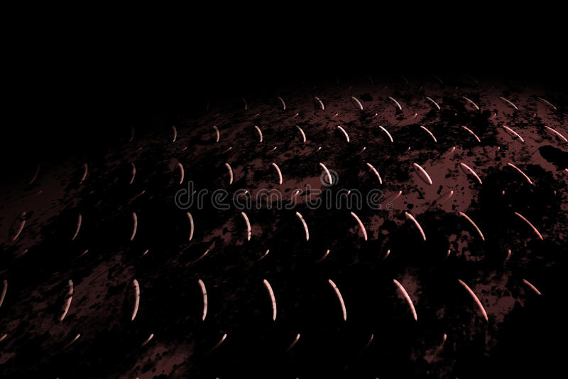Plat rouillé de diamant sur l'ombre noire illustration libre de droits