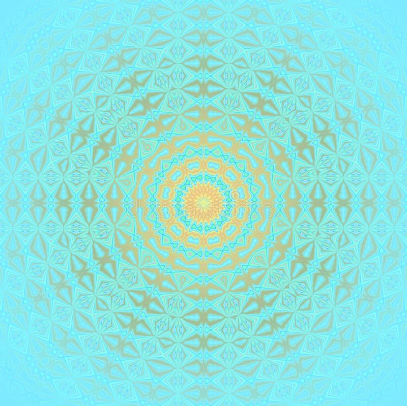 Plata brillante inconsútil del oro del modelo de los círculos azul clara libre illustration