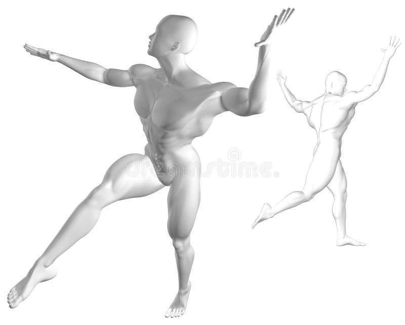 Plata de la danza del Cyber libre illustration