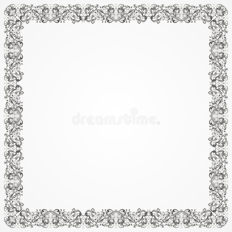 Plata del batik del marco stock de ilustración. Ilustración de ...