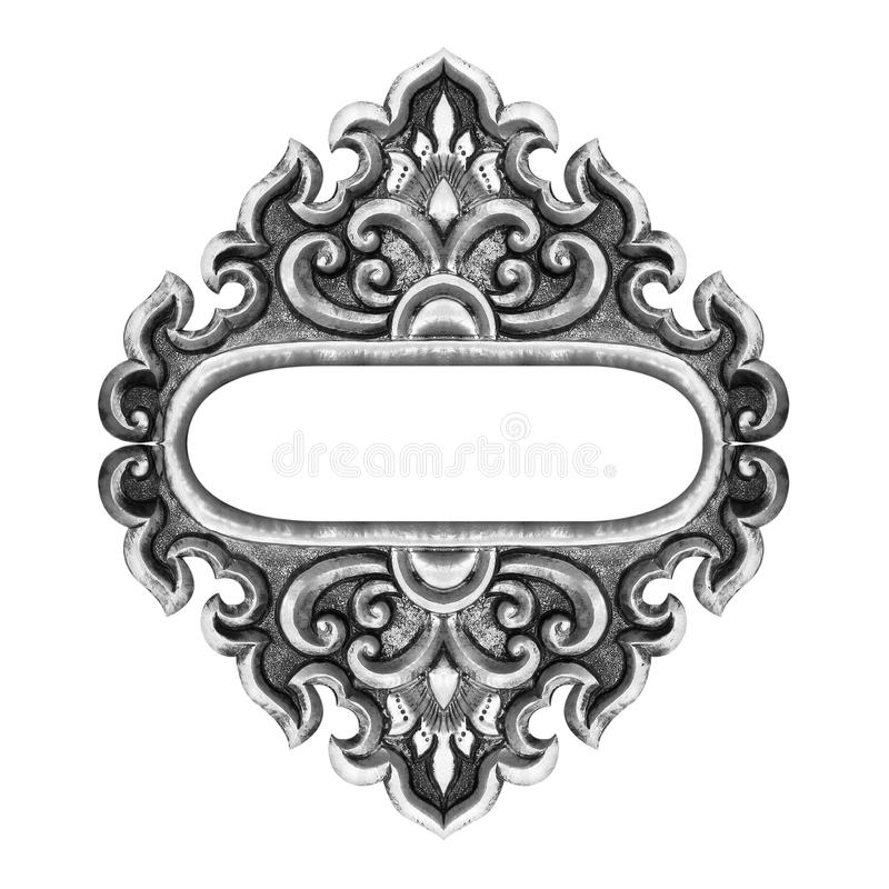 Plata Grabada Antigüedad Decorativa Vieja Del Marco Imagen de ...