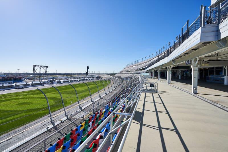 Plataforma acima do estrada do International de Daytona fotos de stock
