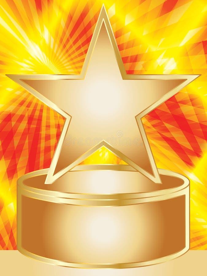 Plataforma brillante de la estrella stock de ilustración