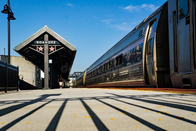Plataforma da carga de Amtrak foto de stock royalty free