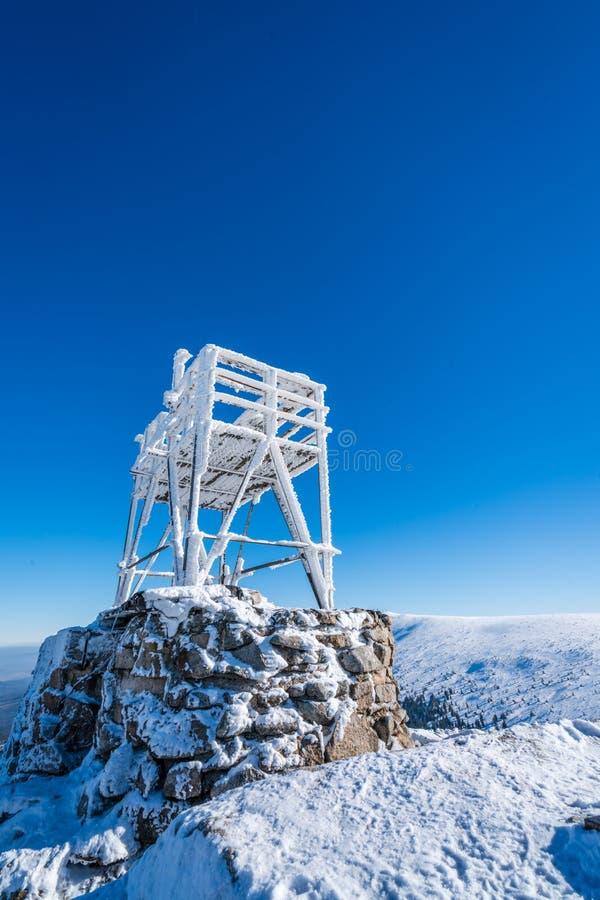 Plataforma da visão na parte superior de Szrenica fotos de stock royalty free