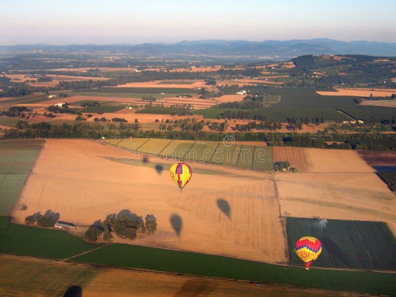 Plataforma de aterrizaje del globo imagenes de archivo