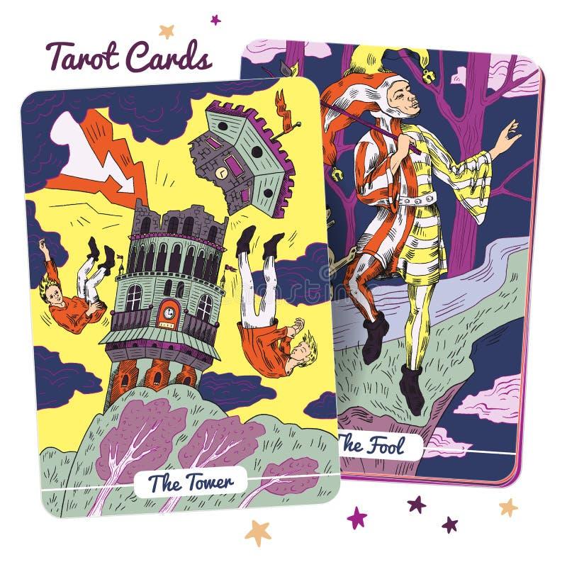 Plataforma de cartão do tarô ilustração royalty free