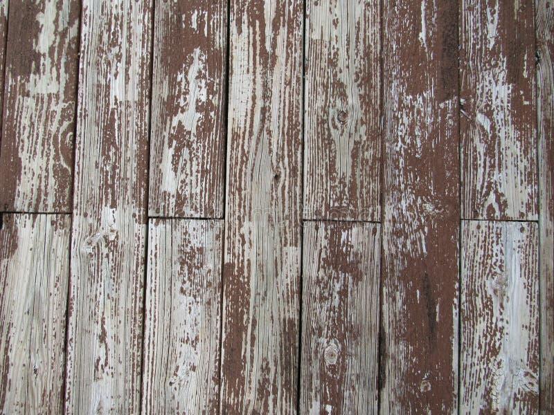 Plataforma de madeira rústica da casca fotografia de stock