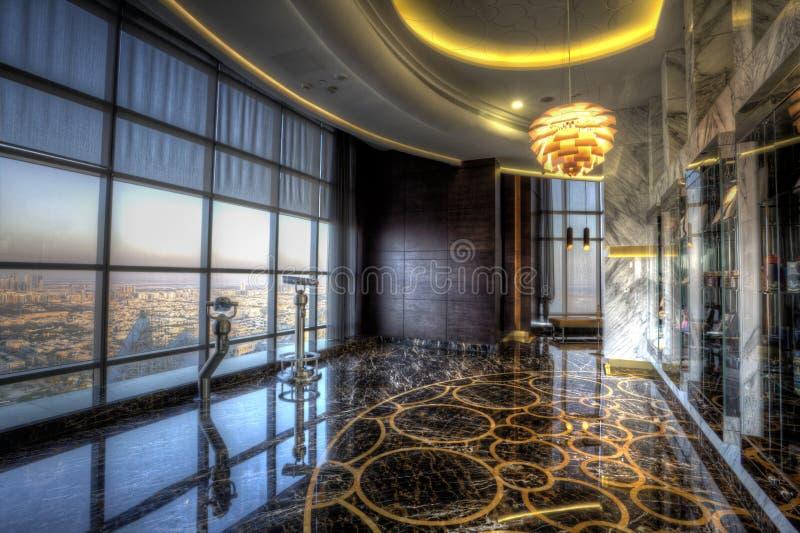 Plataforma de observação na torre de Etihad, Abu Dhabi fotos de stock