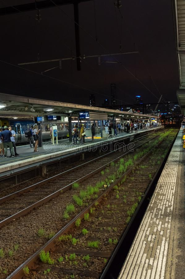 Plataforma de Richmond Railway Station en la ciudad de Yarra imagen de archivo libre de regalías