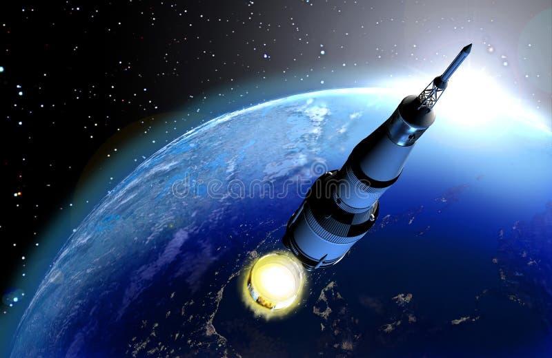 Plataforma de Rocket ilustração royalty free