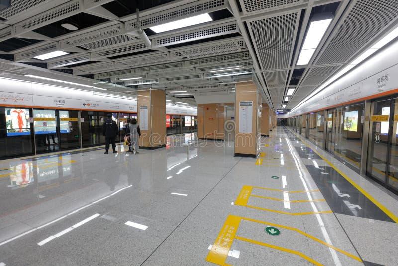 Plataforma del subterráneo de la línea 1, adobe rgb del metro de Xiamen fotos de archivo