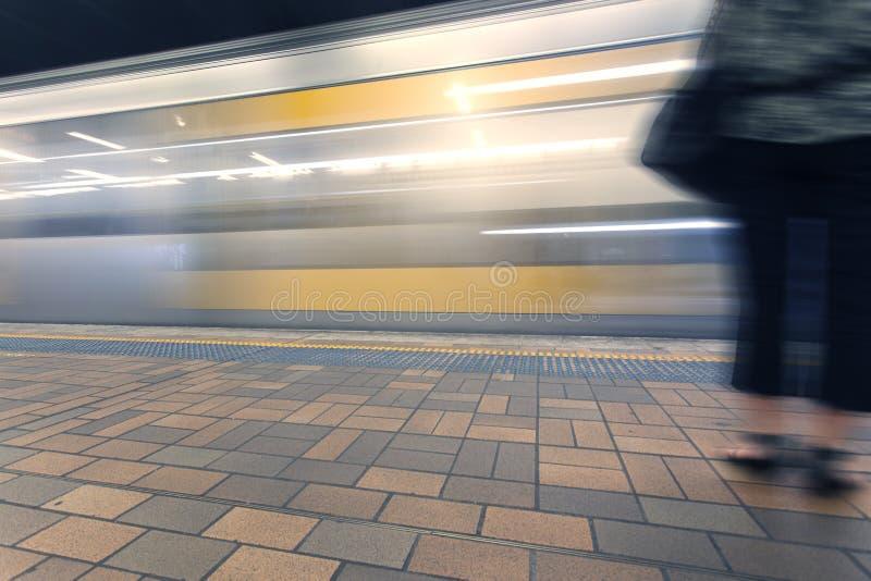 Plataforma del subterráneo de Sydney fotos de archivo