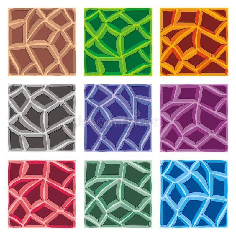 Plataforma determinada de la teja para crear el juego ilustración del vector