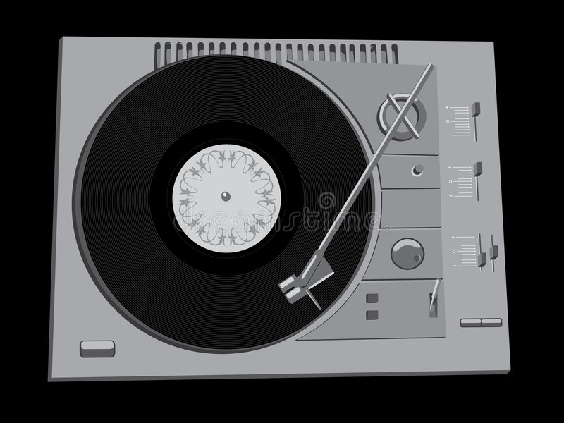Plataforma do DJ ilustração do vetor