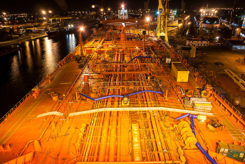 A plataforma do petroleiro imagem de stock