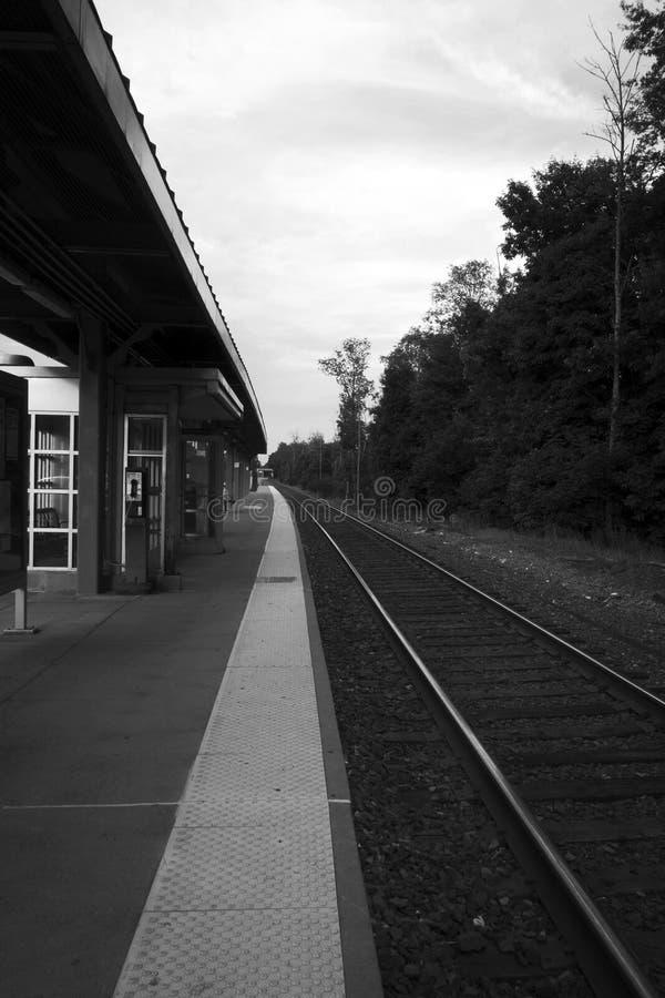 Plataforma do trem fotografia de stock