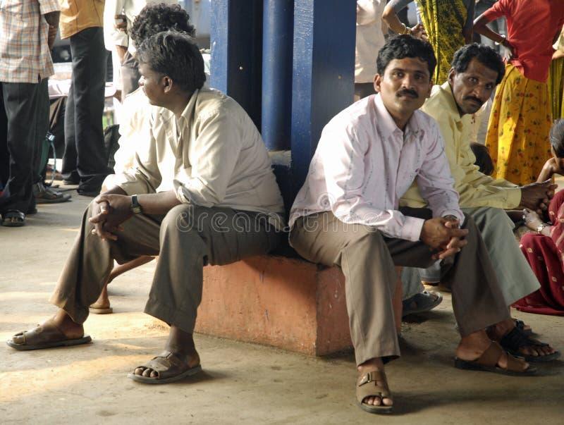 Plataforma ferroviaria Rajastan la India foto de archivo libre de regalías