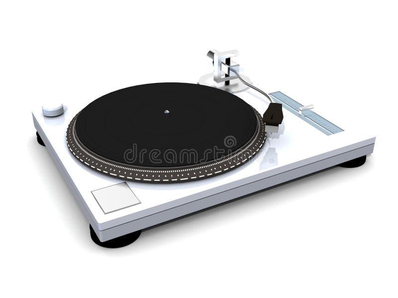 A plataforma giratória do DJ do vinil rende ilustração stock