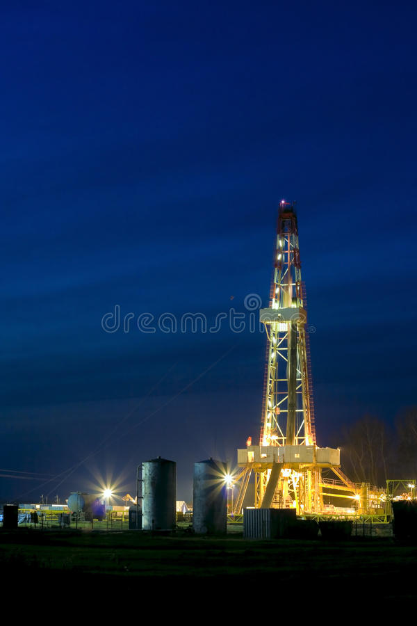 Plataforma petrolífera foto de stock