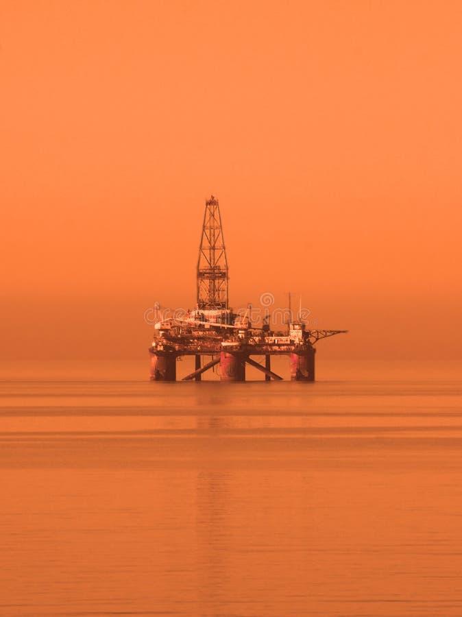 Plataforma Petrolífera No Mar Cáspio Fotos de Stock Royalty Free
