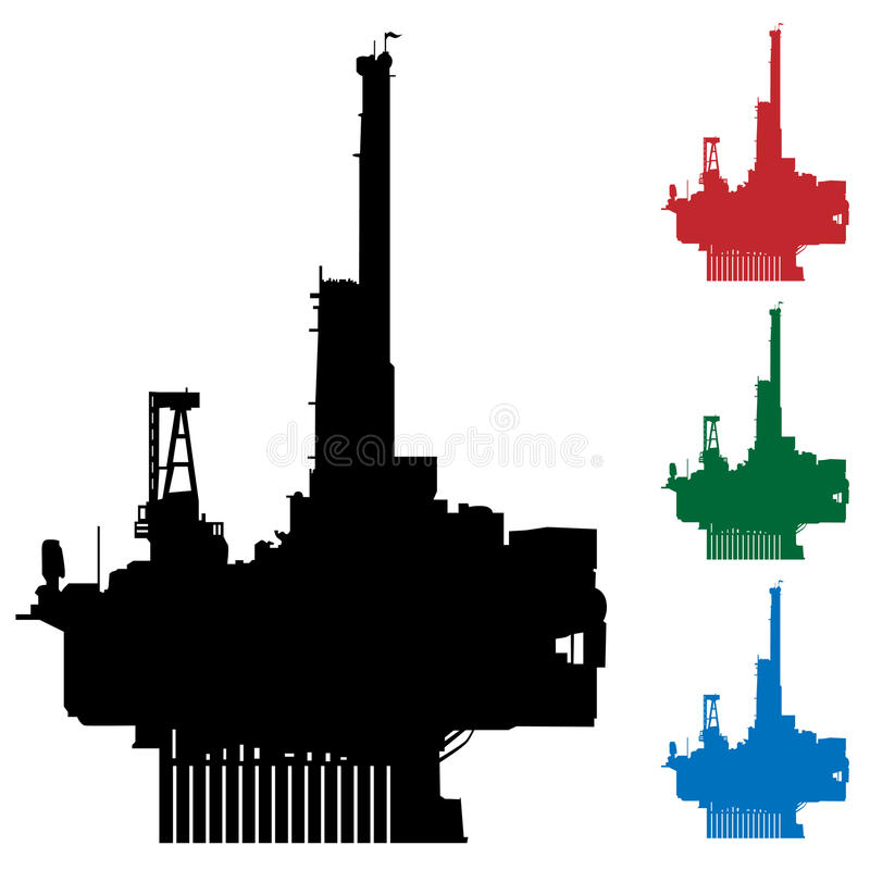 Plataforma petrolera libre illustration