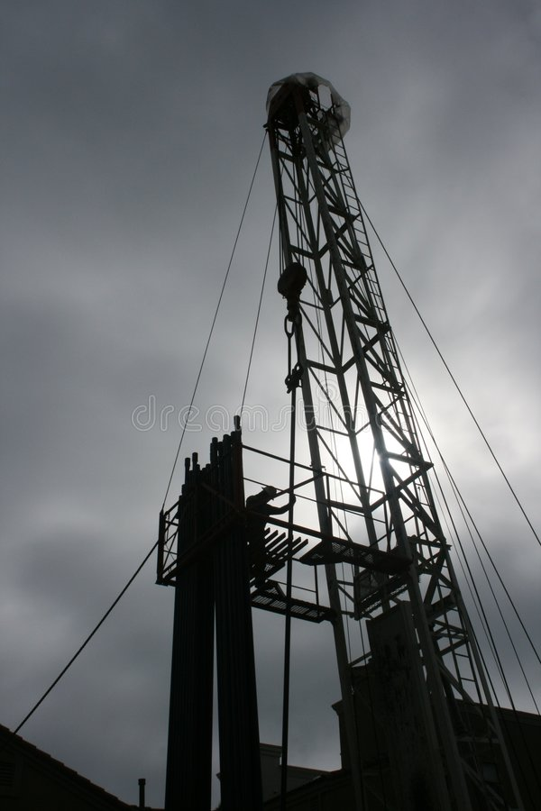 Plataforma petrolera fotos de archivo libres de regalías