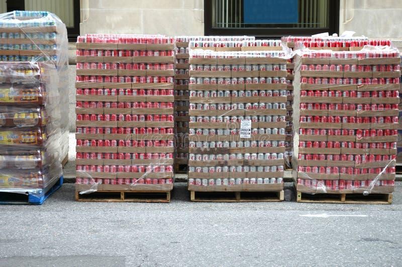 Plataformas de la soda fotos de archivo