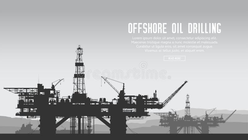 Plataformas petrolíferas a pouca distância do mar