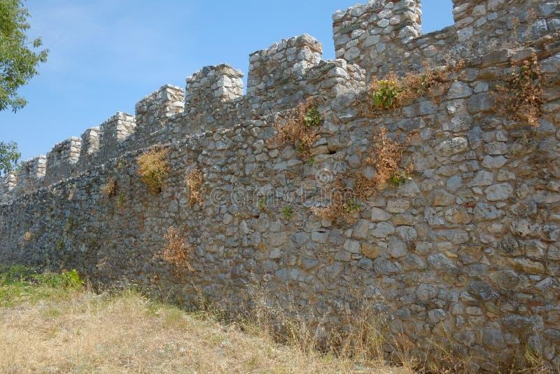 Platamon城堡在希腊 库存图片
