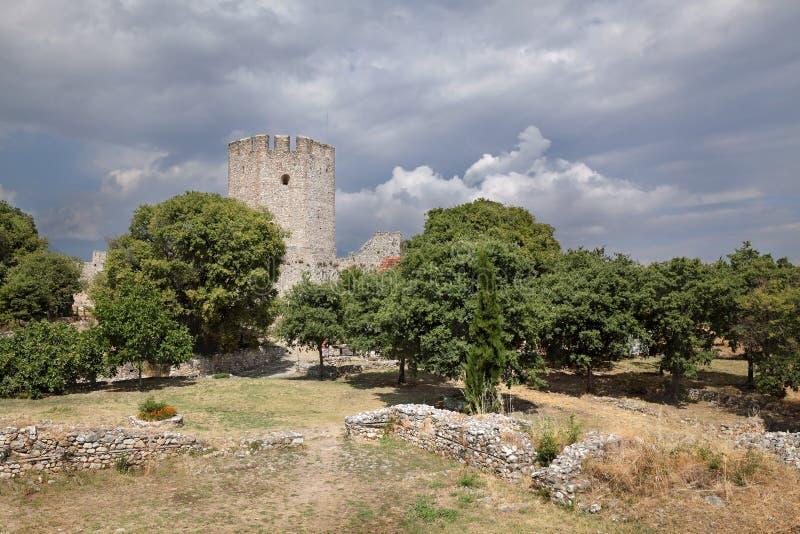 Platamonas-Schloss Griechenland lizenzfreie stockfotos