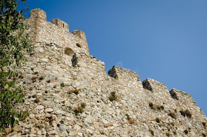 Platamonkasteel dichtbij Platamonas-stad Griekenland royalty-vrije stock foto's