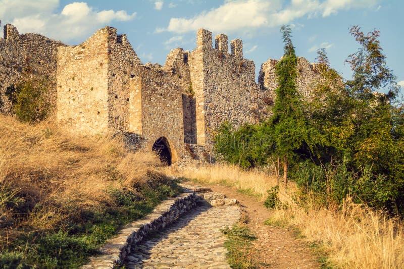 Platamonkasteel in Pieria, Griekenland royalty-vrije stock afbeeldingen