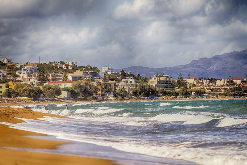 Platanias plaża fotografia stock