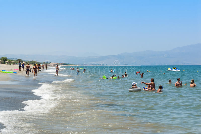 Plataniasstrand Kreta stock fotografie