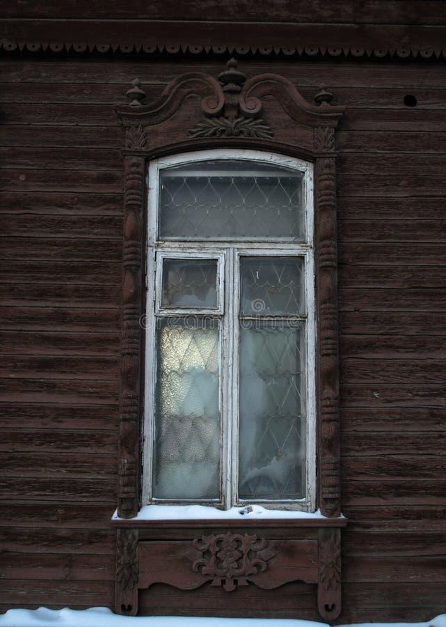 Platband сибирского окна стоковое фото