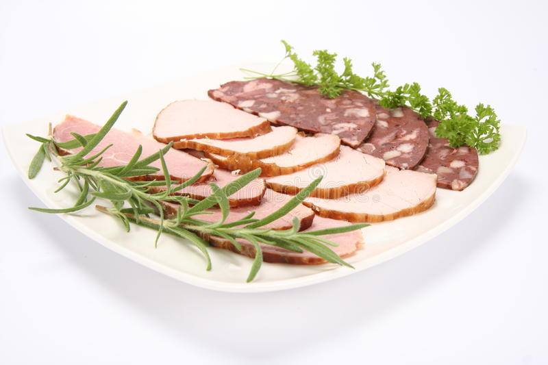 Download Plate Of Assorted Cold Cuts Stock Image - Image: 15504905