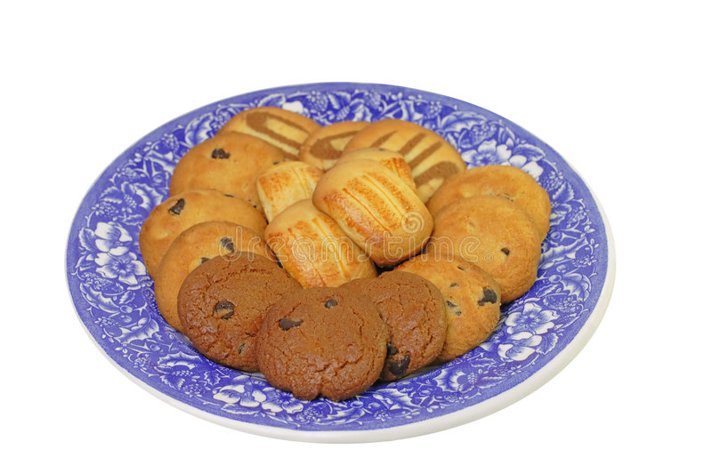 Plate with biscuits stock photography