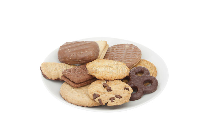 Plate of biscuits royalty free stock images