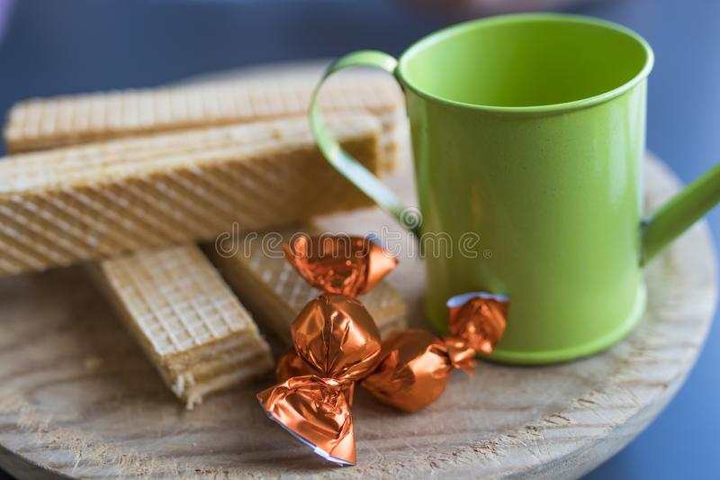 Plate with biscuits royalty free stock image